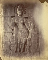 Statue inside the Pathain Devi Temple, Pithaora.